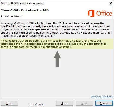 MS office 2016 and 2019